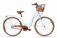 Велосипед Goetze Style LTD 28 блакитний 3 передачі + фара і в Подарунок кошик, фото 1