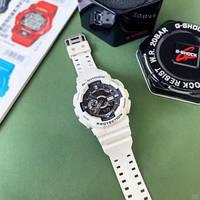 Наручные спортивные электронные часы Casio G-SHOCK GA-110, мужские водостойкие кварцевые часы белые