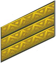 Нарукавний знак На 3 курси До парадної та повсякденної форми одягу