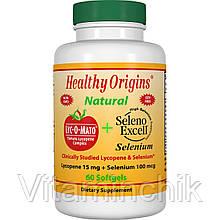 Ликопин + Селен, Lyc-O-Mato, Healthy Origins, 60 желатиновых капсул