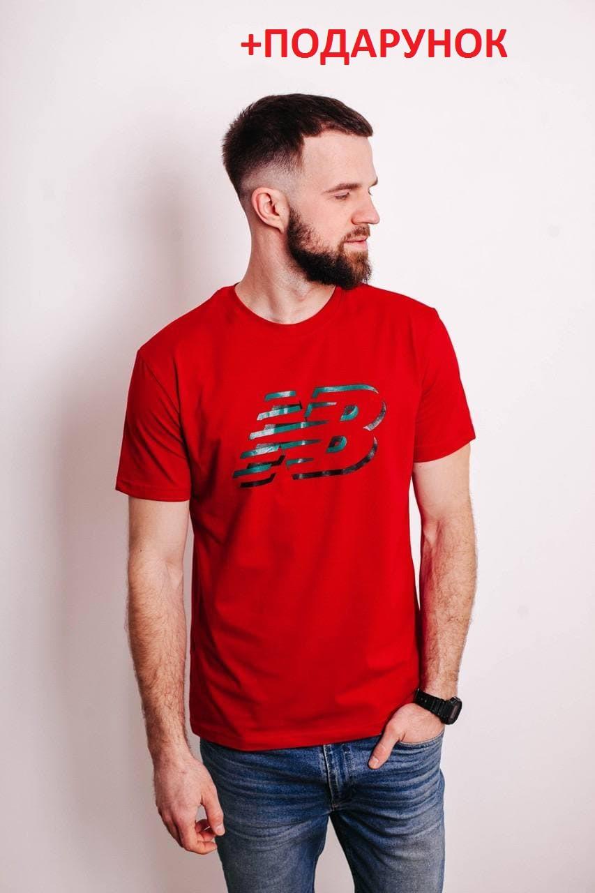Мужская футболка свободного кроя из хлопока с логотипом New balance