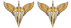 Емблема Пластик Десантно-штурмові війська та спеціалісти повітрянодесантної служби видів і родів військ