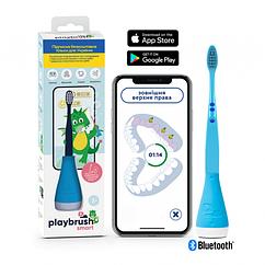 Интерактивная насадка Playbrush Smart Blue+зубная щетка
