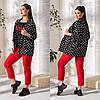 Жіночий костюм трійка чорний/червоний (3 кольори) VV/-1407