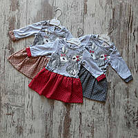 Детское платье клешное горох ЗАЙКИ для девочки 6-18 мес,цвет уточняйте при заказе