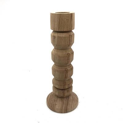 Дерев'яний підсвічник геометричний 16см.