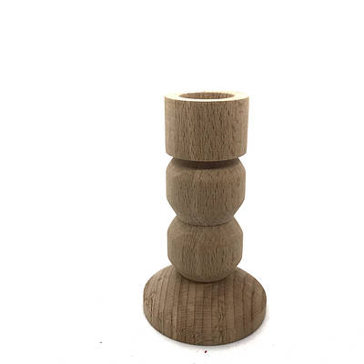 Дерев'яний підсвічник геометричний 10см.