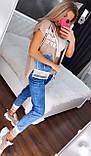 Жіночий костюм з джинсами (Туреччина); розм 36 38 40 42.і баталов 50,52,54,56, фото 4