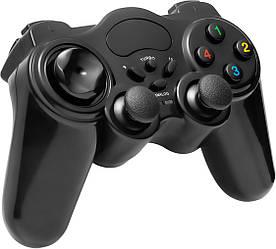 Беспроводной джойстик для ПК PC GamePad DualShock DJ-EW800 с вибрацией (25101)