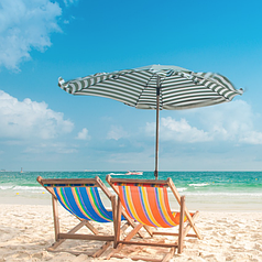 Шезлонг складаний для пляжу і басейну