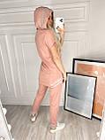 Женский костюм трикотажный (Турция); разм С,М,Л,ХЛ (46,48,50,52,)  (полномерные), фото 4
