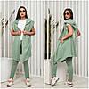Повседневный женский костюм двойка фисташковый (4 цвета) VV/-1402