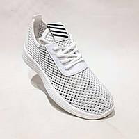 Женские кроссовки летние сетка из текстиля легкие удобные Белые