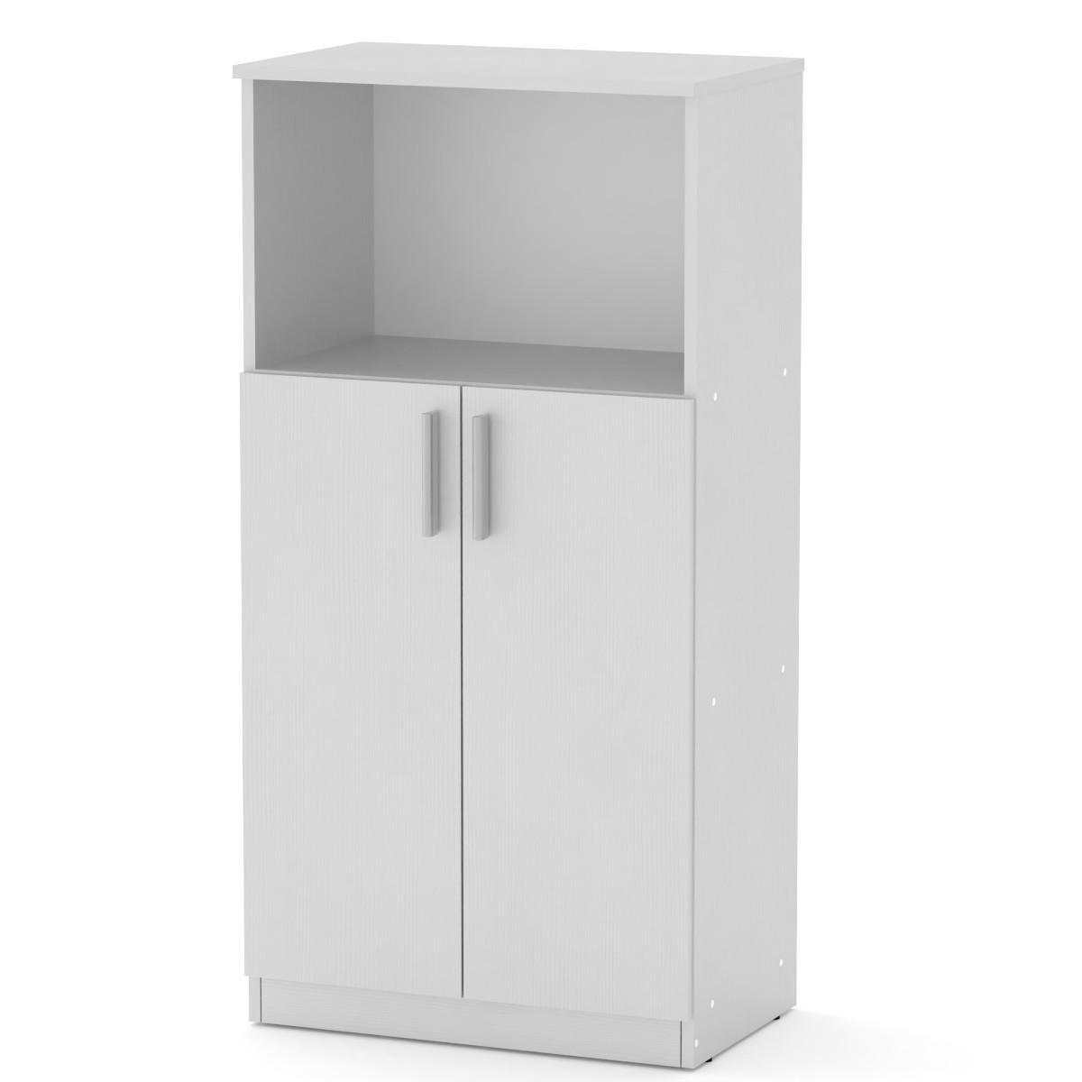 Шкаф книжный КШ-15 нимфея альба белый Компанит (61х37х120 см)