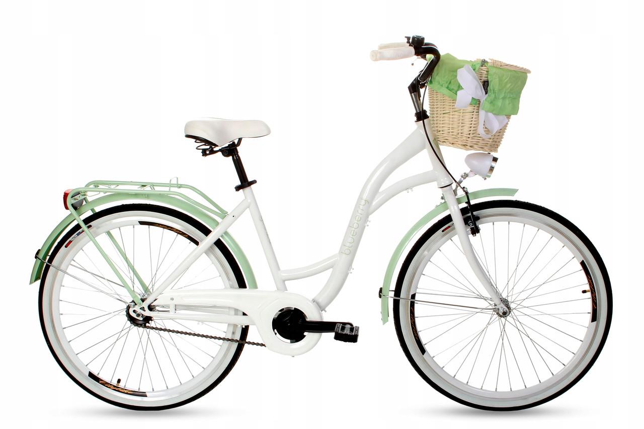 Велосипед Goetze BLUEBERRY 26 фисташка + фара и корзина в Подарок