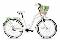 Велосипед Goetze BLUEBERRY 26 фисташка + фара и корзина в Подарок, фото 1