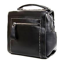 Женский черный рюкзак. Небольшая сумочка-рюкзак. Модная женская сумка черная. С203-1