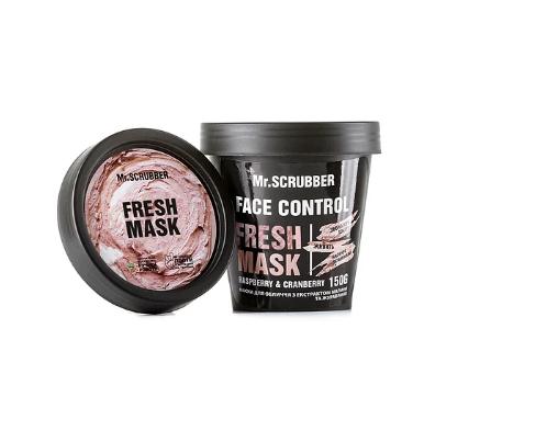 Маска для лица с экстрактом малины и клюквы Face Control Fresh Mask Mr.SCRUBBER 150 гр