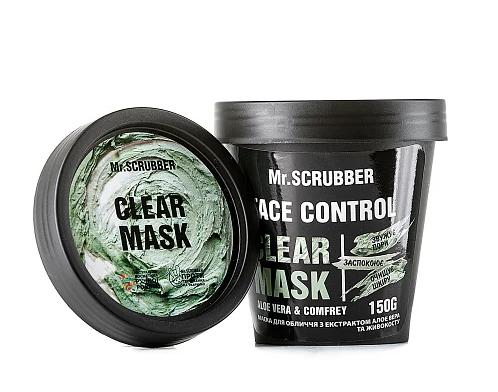Маска для обличчя з екстрактом алое віра і живокосту Mr. Смуги навігації Face Control Clear Mask 150 г