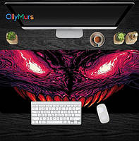 Килимок для миші великий 80х30см Hyper Beast #13 CS GO