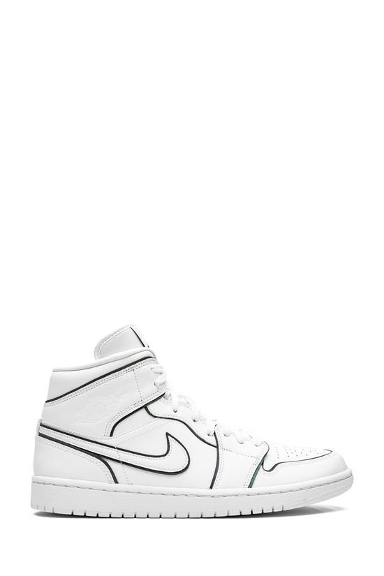 Кросівки жіночі Nike Air Jordan 1 Mid White у стилі найк джордан Білі (Репліка ААА+)