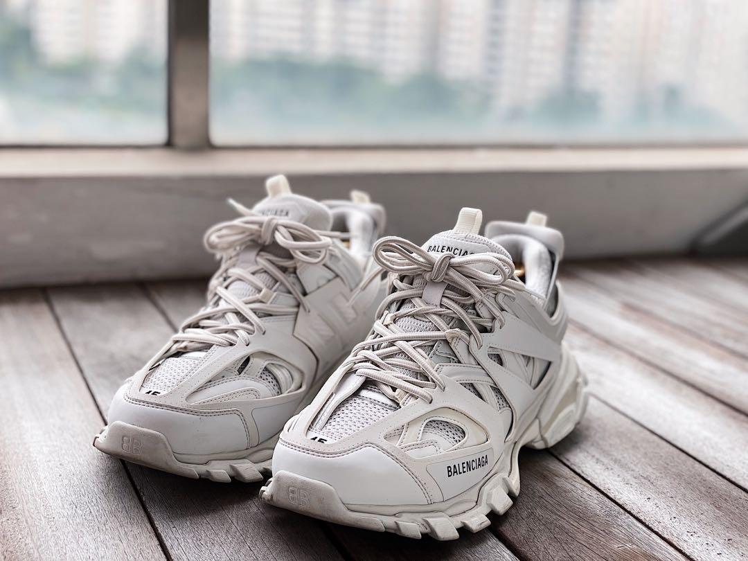Чоловічі кросівки Balenciaga Track в стилі Баленсіага ЧОРНІ багатошарова підошва (Репліка ААА+)