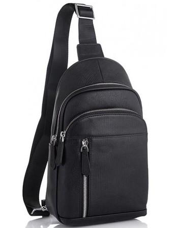 Чоловічий шкіряний рюкзак на одне плече TIDING BAG A25F-022-1A