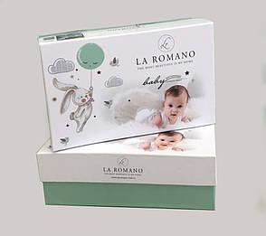"""Детское постельное белье в кроватку c вязаным пледом La Romano """"Baby Parco Battaniye"""" 008 Розовый, фото 2"""