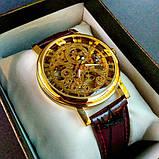 Winner Женские часы Winner Gold  Brown, фото 3