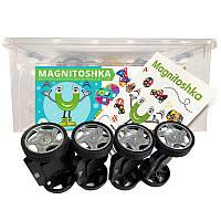 Магнитный конструктор Magnitoshka 200 деталей (большой размер, 196 магнитных деталей)
