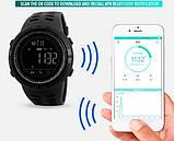 Skmei Мужские спортивные кварцевые часы Skmei Clever Black 1250, фото 8