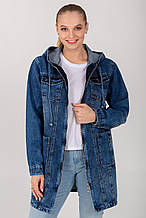 Демісезонна жіноча джинсова куртка-вітровка ВД-3 в розмірах 50-56