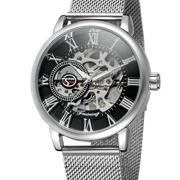 Forsining Чоловічі годинники Forsining Aston Silver