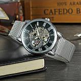 Forsining Чоловічі годинники Forsining Aston Silver, фото 3