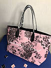 Городская Сумка Шоппер Victoria's Secret Floral Tote, Розовая с цветами, фото 4