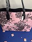 Городская Сумка Шоппер Victoria's Secret Floral Tote, Розовая с цветами, фото 6