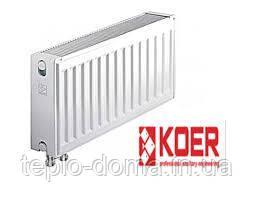 Сталевий радіатор Koer 22 тип 500*1600(нижнє підключення) Чехія