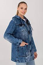 Демісезонна жіноча джинсова куртка-вітровка ВД-1 в розмірах 50-56