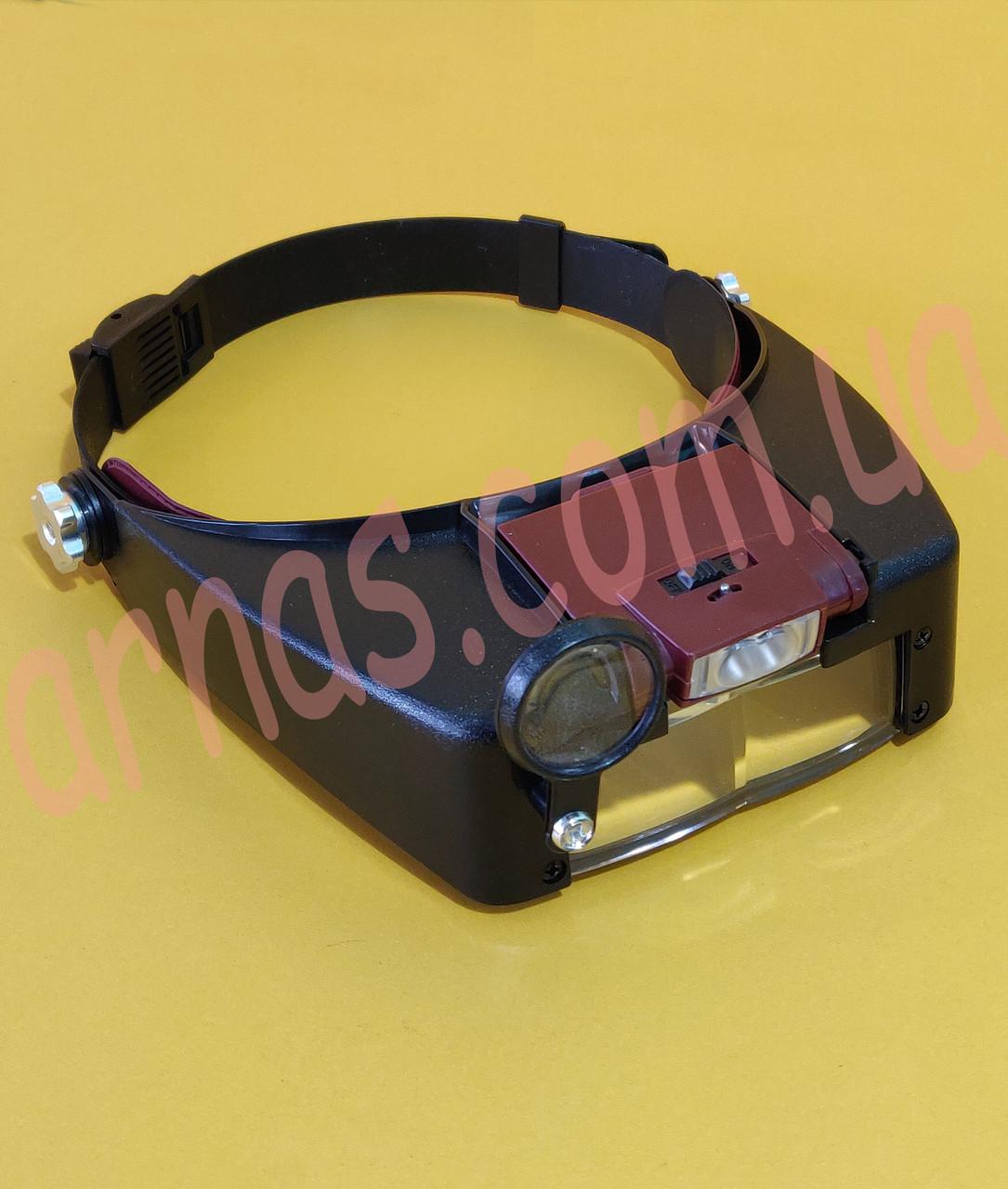 Бинокуляр очки бинокулярные со светодиодной подсветкой MG81007-A