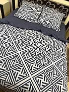 """Двуспальный комплект (Бязь)   Постельное белье от производителя """"Королева Ночи""""   Орнамент на белом и сером, фото 2"""