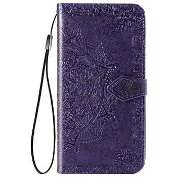 Кожаный чехол (книжка) Art Case с визитницей для ZTE Blade A7 Fingerprint Фиолетовый