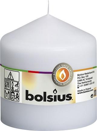 Свічка циліндр Bolsius біла 10 см (100/100-090Б)