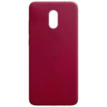Силиконовый чехол Candy для Xiaomi Redmi Note 4X / Note 4 (SD) Бордовый