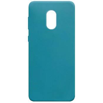 Силиконовый чехол Candy для Xiaomi Redmi Note 4X / Note 4 (SD) Синий / Powder Blue