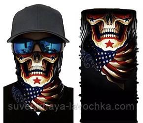 Мото баф Uncle Skull. Якісна маска на обличчя