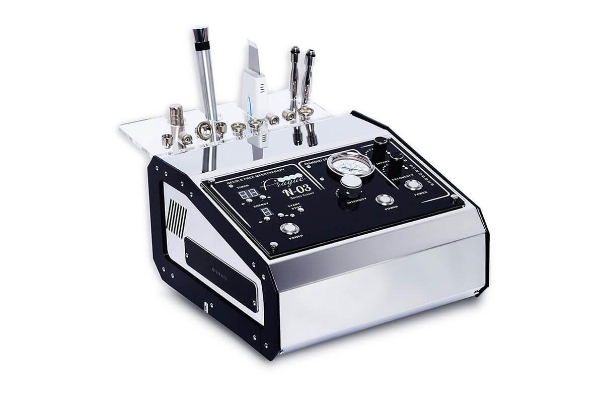 Косметологический многофункциональный аппарат Alvi Prague N-03 мезотерапия, УЗ скрабер, микродермобразия