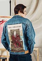 Джинсовая куртка Staff sha hand made c1 тёмно-синий PKY0270