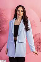 Классический пиджак женский деловой прямой на пуговице  р-ры 42-48 арт. 33