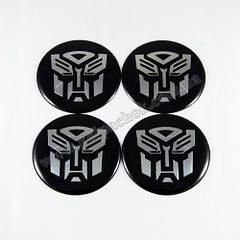 Наклейки для ковпачків на диски Transformers чорні 65мм