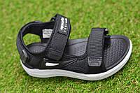 Сандали сандалии босоножки Nike на мальчика черные р28-33, копия
